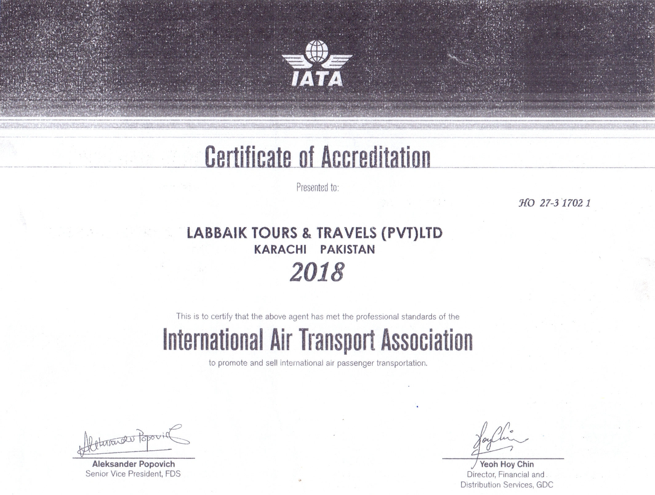 Labbaik Tours IATA