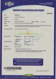 Labbaik Tours NTN Certificate