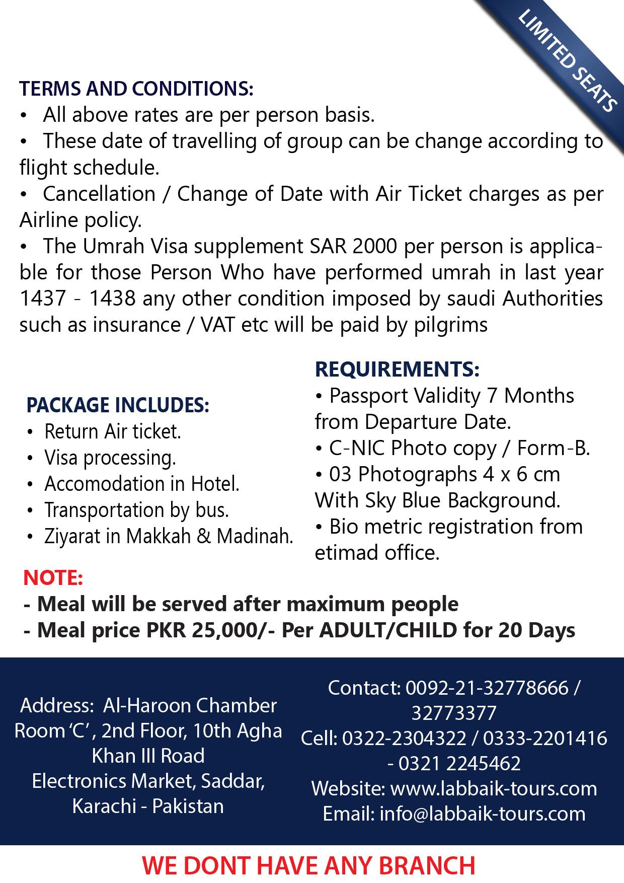Labbaik Tours & Travels (Pvt ) Ltd